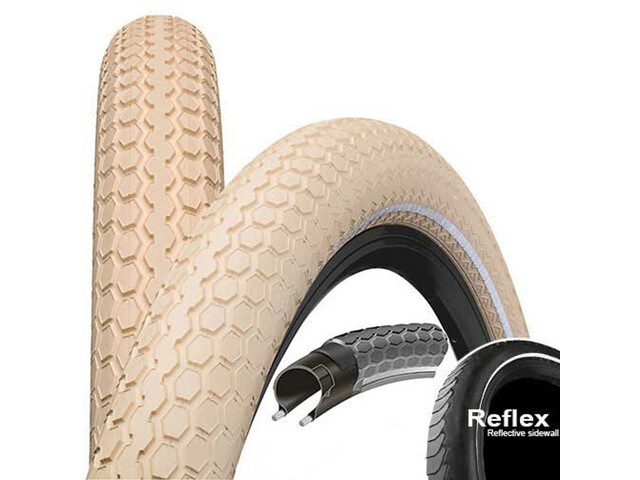 "Continental Ride Cruiser E-25 Wired-on Tire 26"" Reflex, creme"
